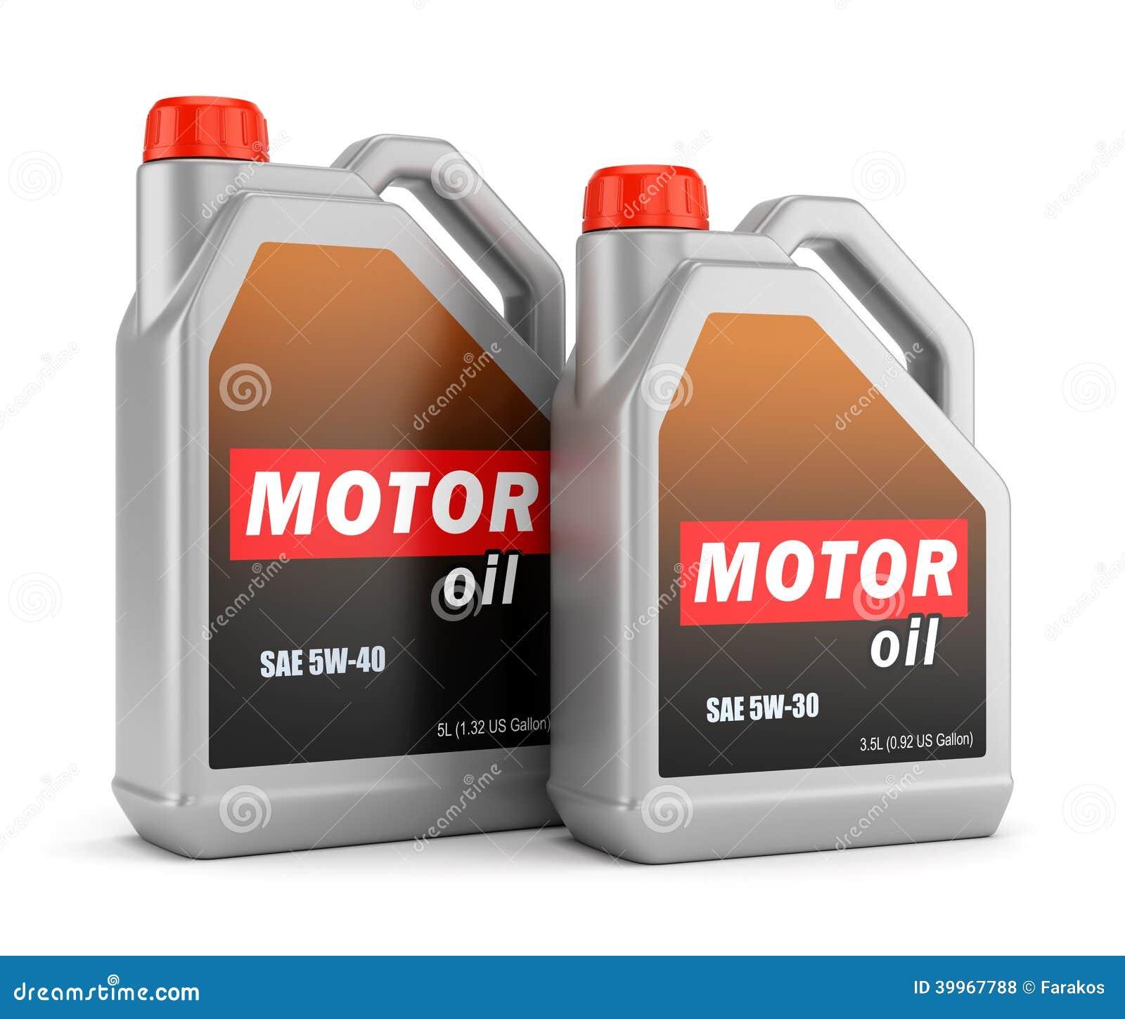 Zwei Flaschen Motorenöl