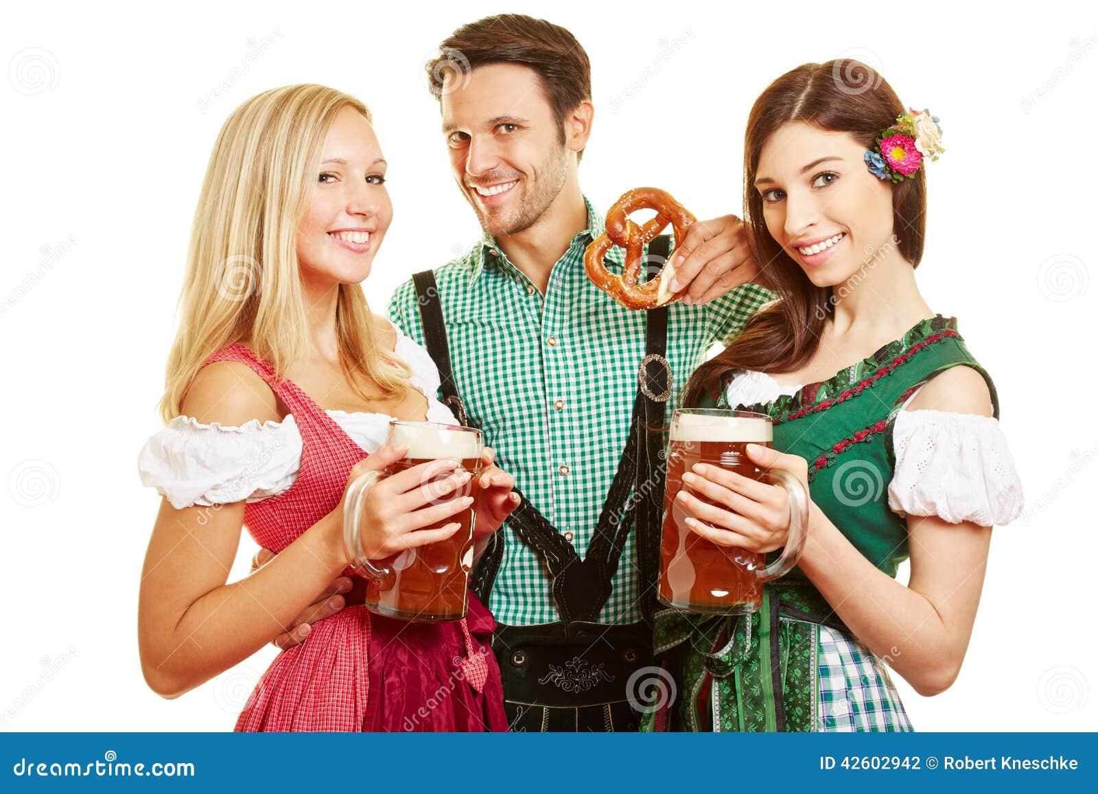 Dreier Zwei Frauen Ein Mann