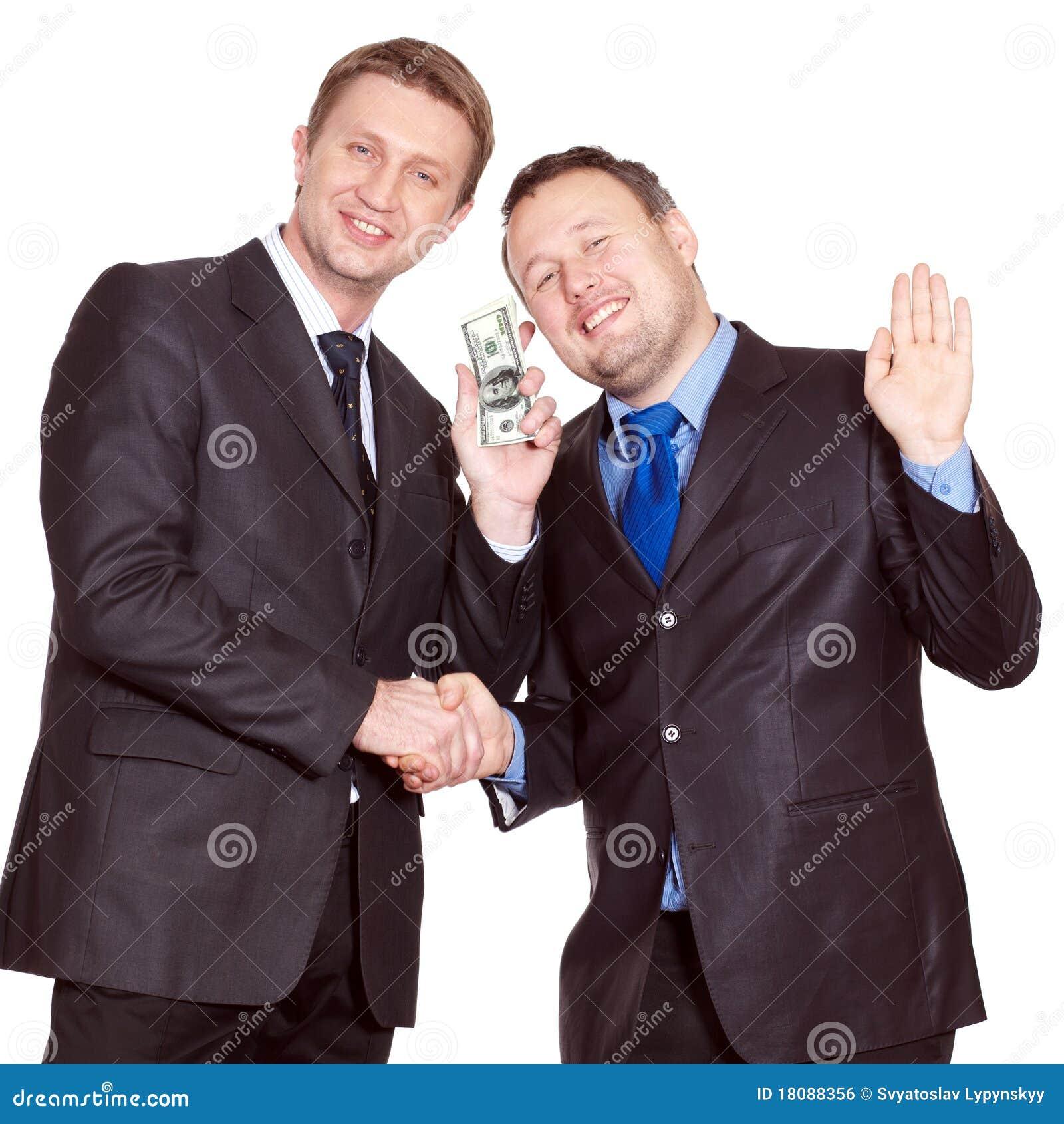 Zwei Geschäftsmänner haben ein Abkommen