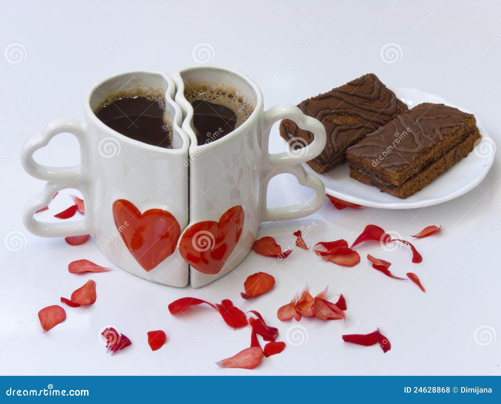zwei kaffeetassen gegen stockfoto bild von bruch valentine 24628868. Black Bedroom Furniture Sets. Home Design Ideas