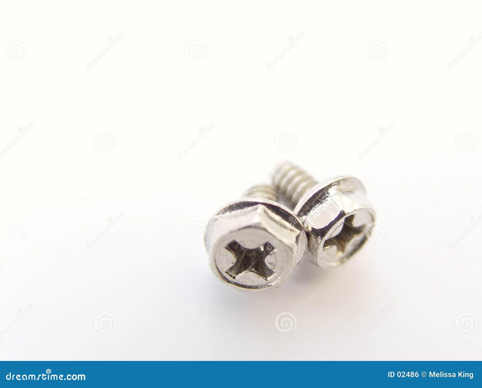 Zwei Kleincomputer-Schrauben