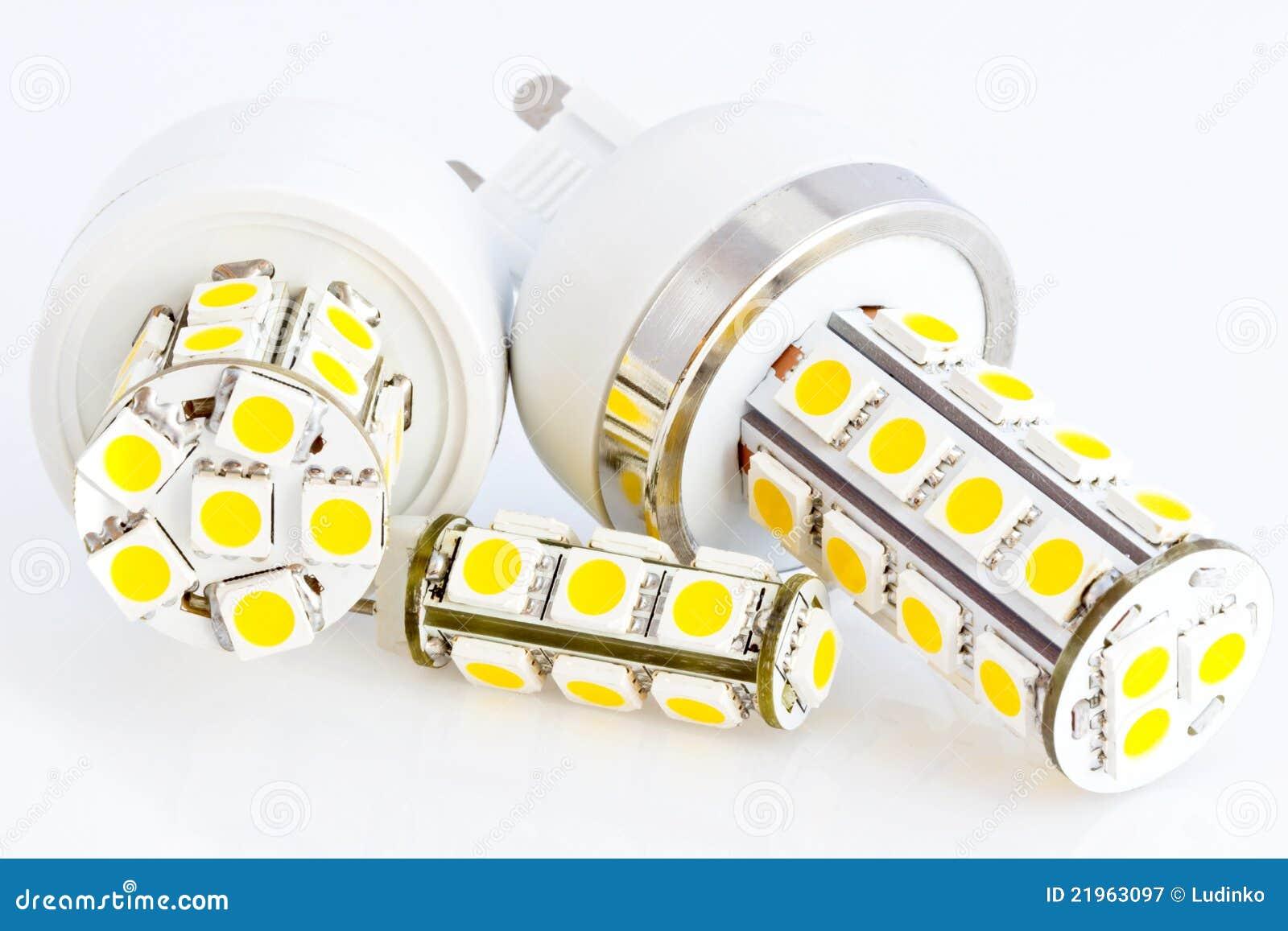 Zwei Led Fühler G9 Und Ein Led Fühler G4 Stockbild Bild Von Lampe