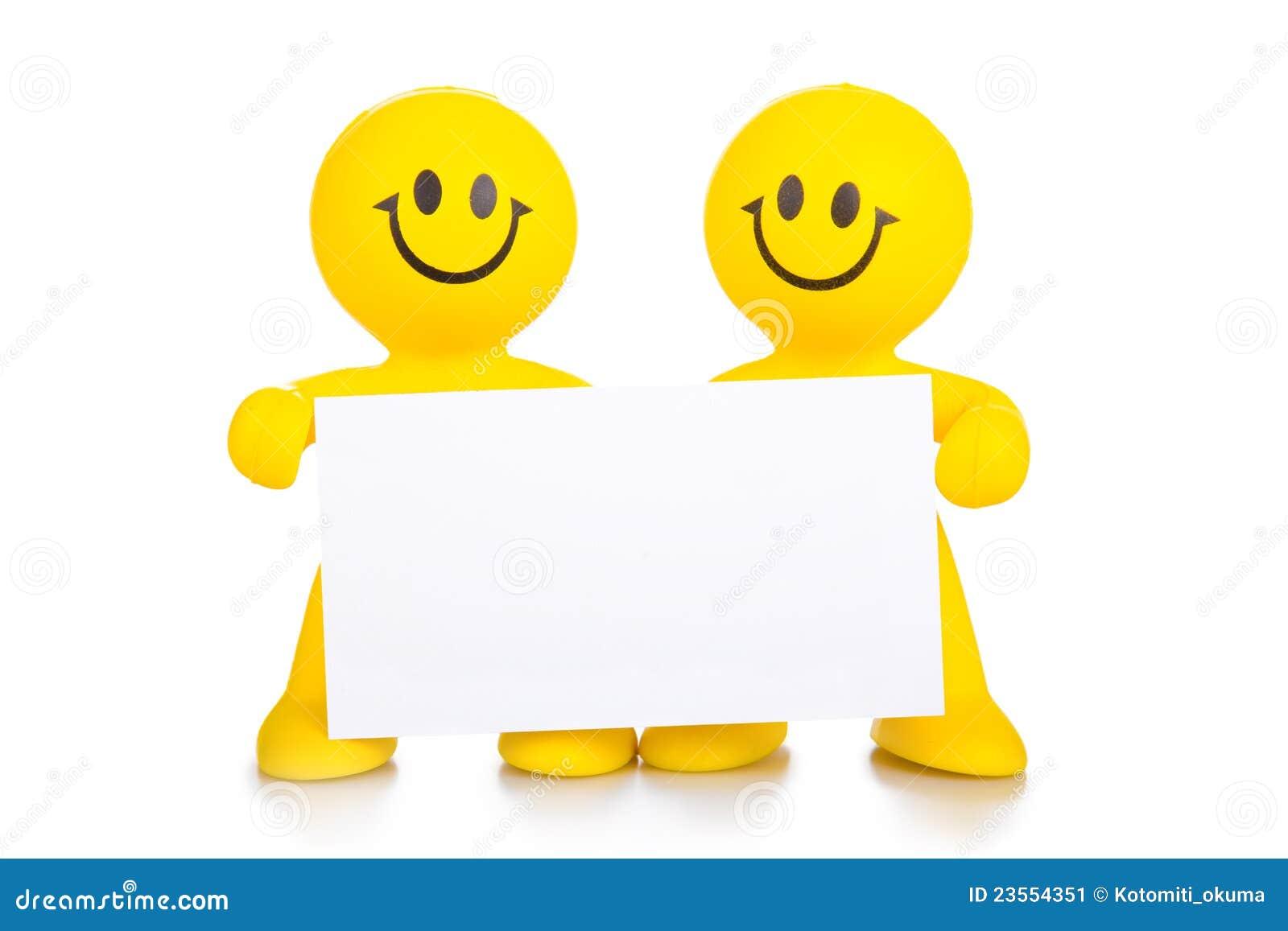zwei personen halten das reine wei e plakat an stockbild bild 23554351. Black Bedroom Furniture Sets. Home Design Ideas