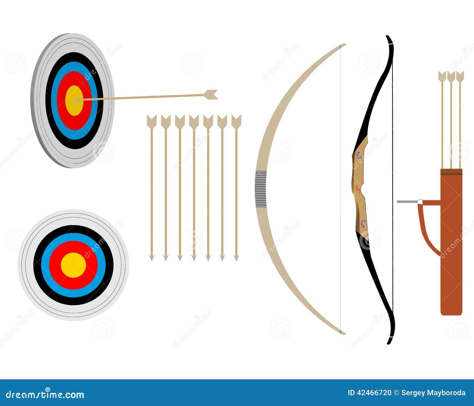 Zwei Pfeile und Bogen