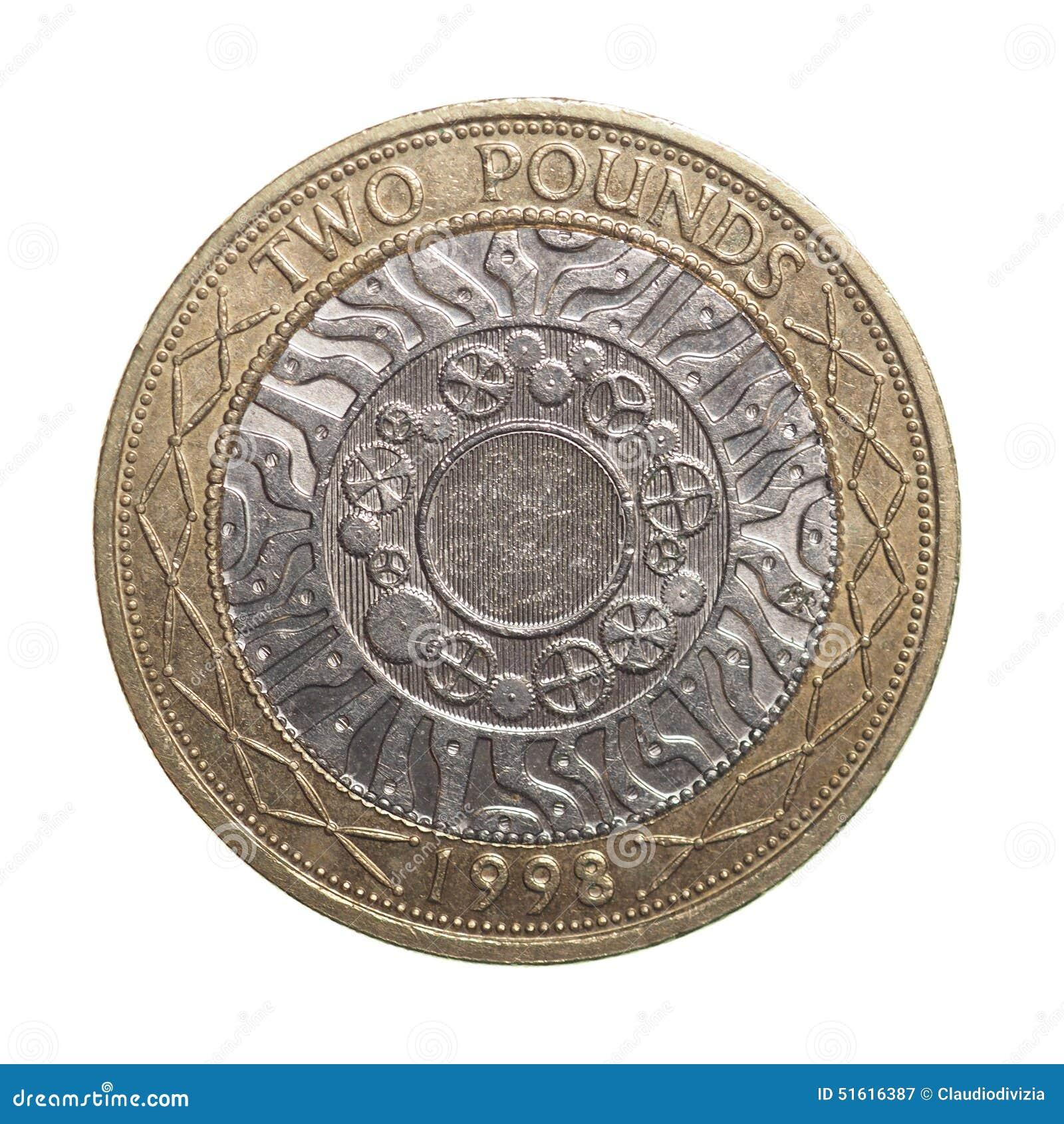 Zwei Pfund Münze Stockbild Bild Von Fülle Europäisch 51616387