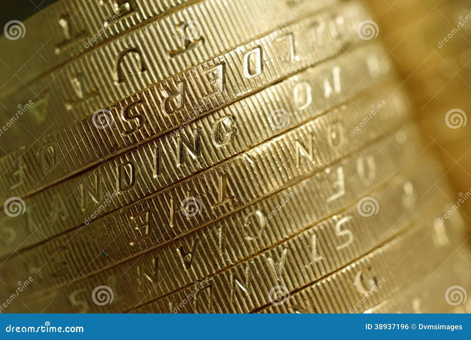 Zwei Pfund Münzen Makro Stockfoto Bild Von Münze Geld 38937196