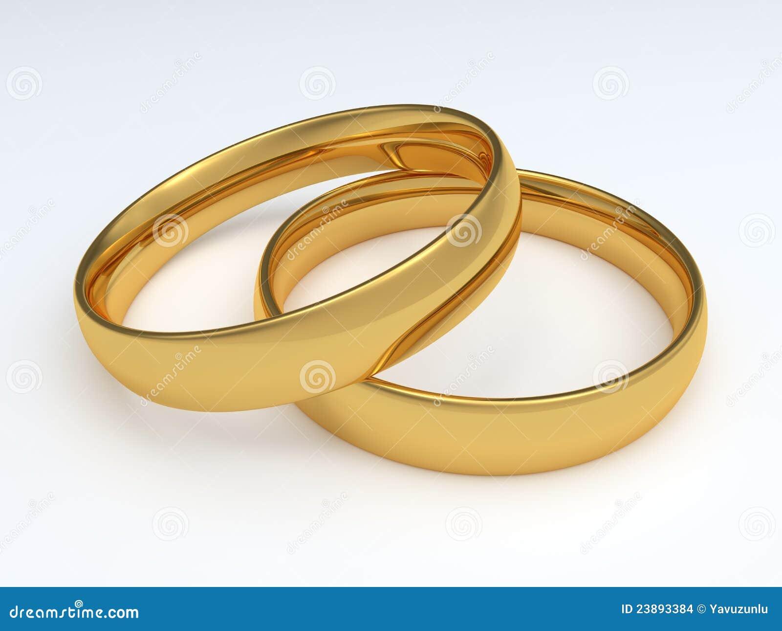 Zwei Ringe Der Goldenen Hochzeit Stock Abbildung Illustration Von