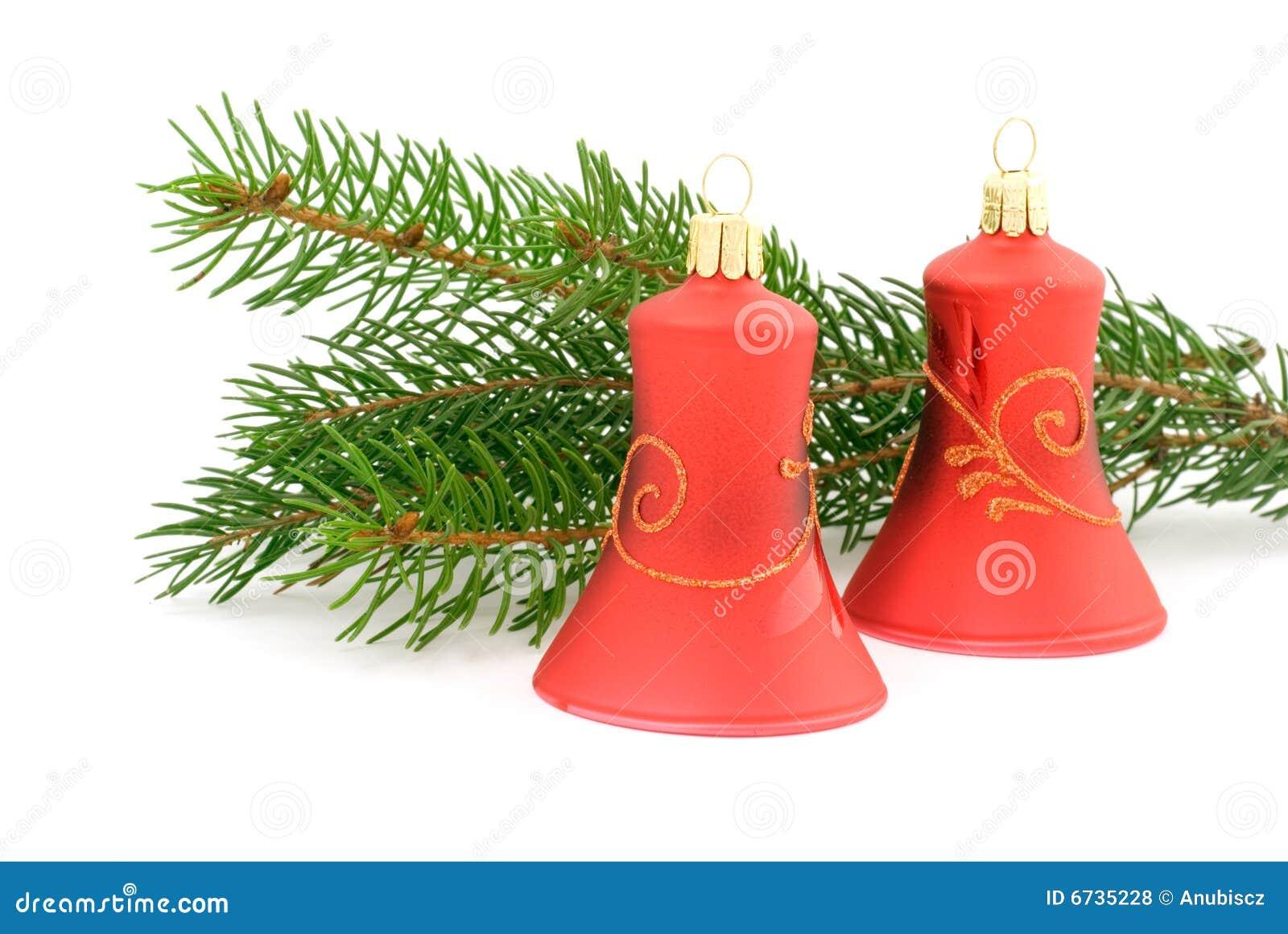 zwei rote weihnachtsglocken lizenzfreie stockfotos bild. Black Bedroom Furniture Sets. Home Design Ideas