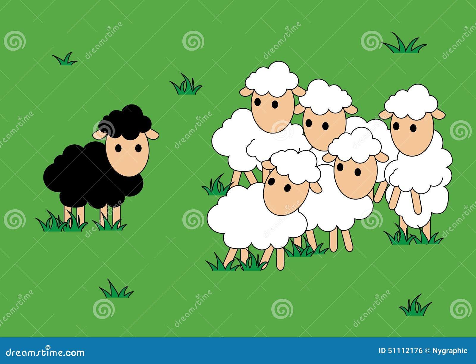 zwei schafe schwarzes schaf ist und allein unterschiedlich sheep clip art black and white sheep clip art images free