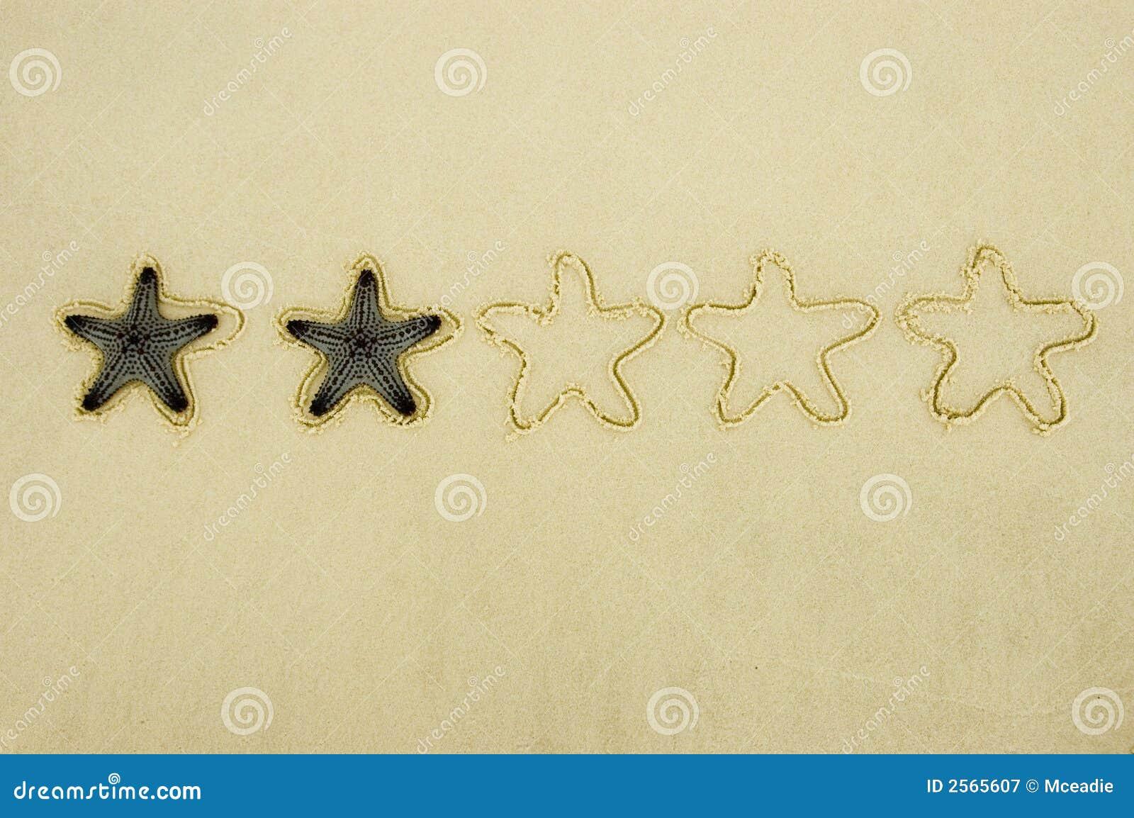 Zwei-Sternebewertung