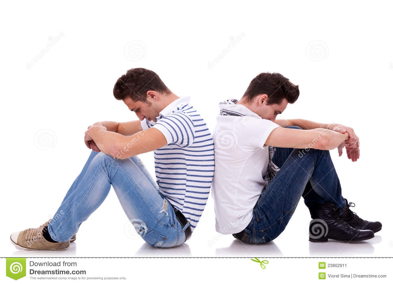 Traurige Männer