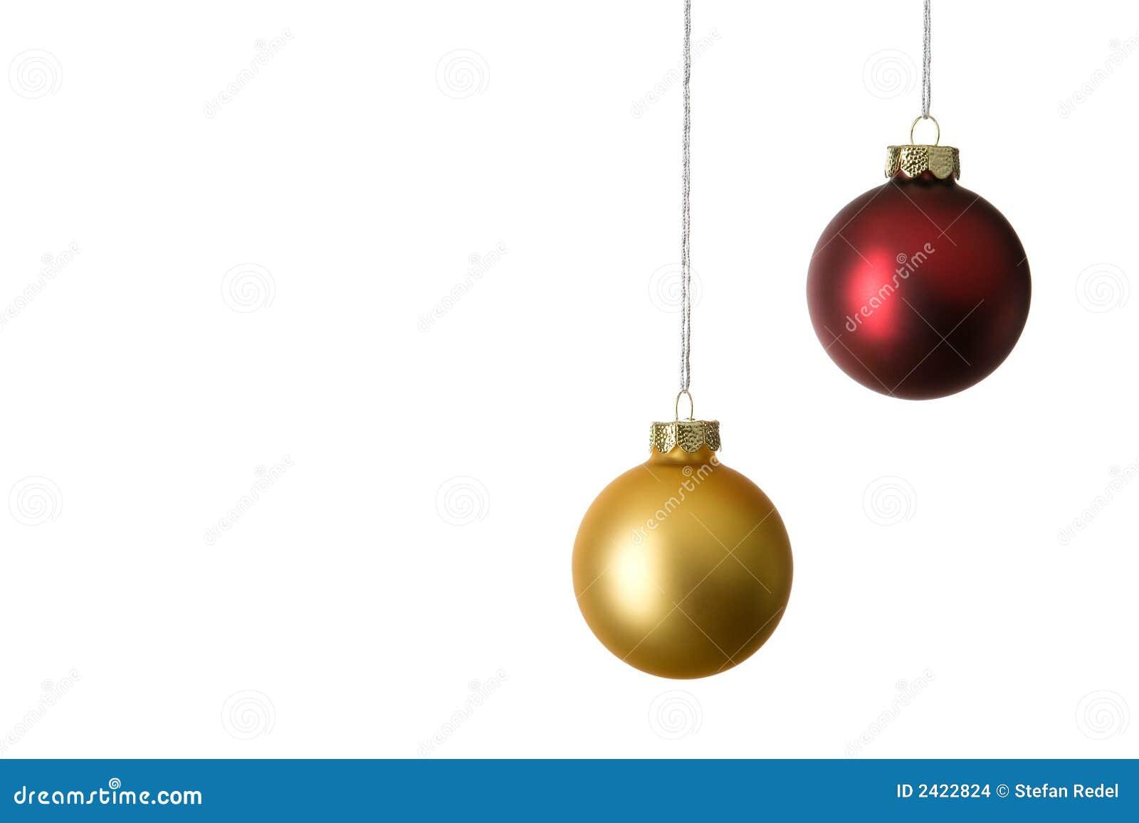 zwei weihnachtskugeln stockbilder bild 2422824. Black Bedroom Furniture Sets. Home Design Ideas
