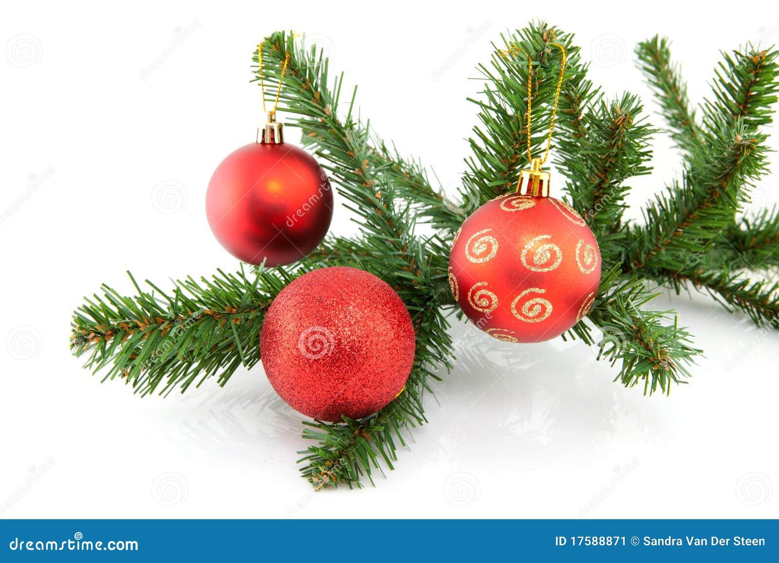 zweig des weihnachtsbaums mit kugeln stockbild bild von funkeln saisonal 17588871. Black Bedroom Furniture Sets. Home Design Ideas