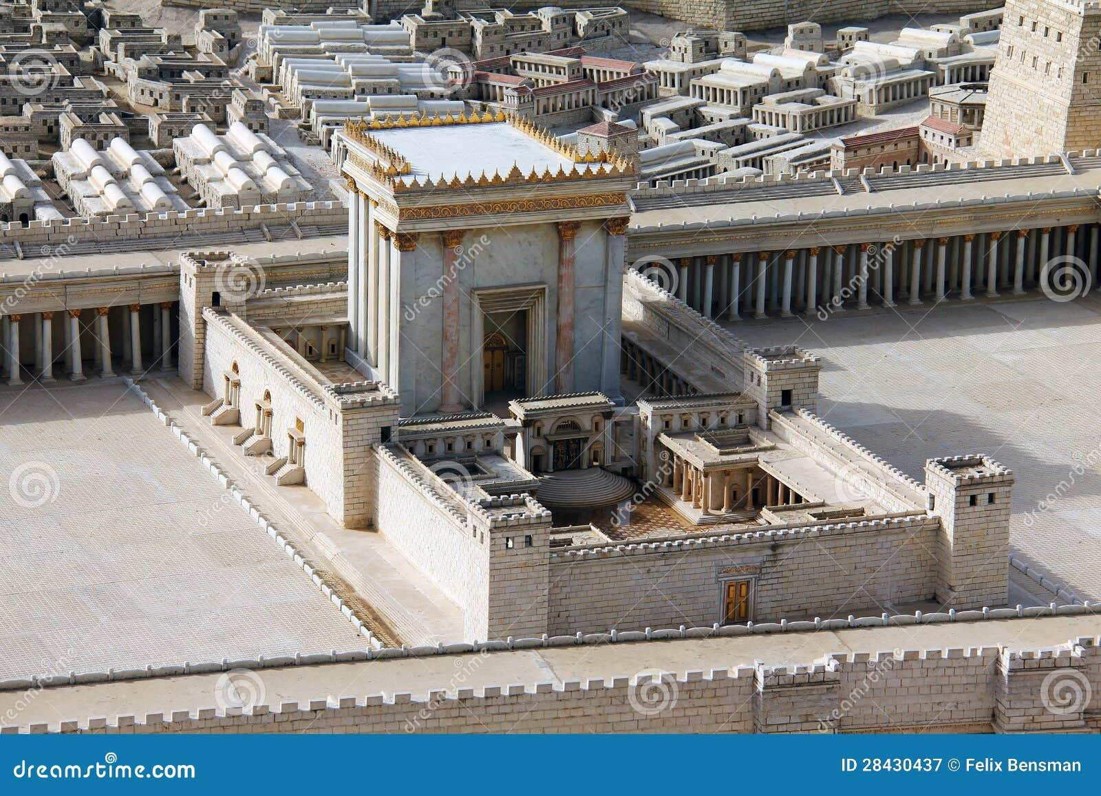 Zweiter Tempel. Baumuster des alten Jerusalems.