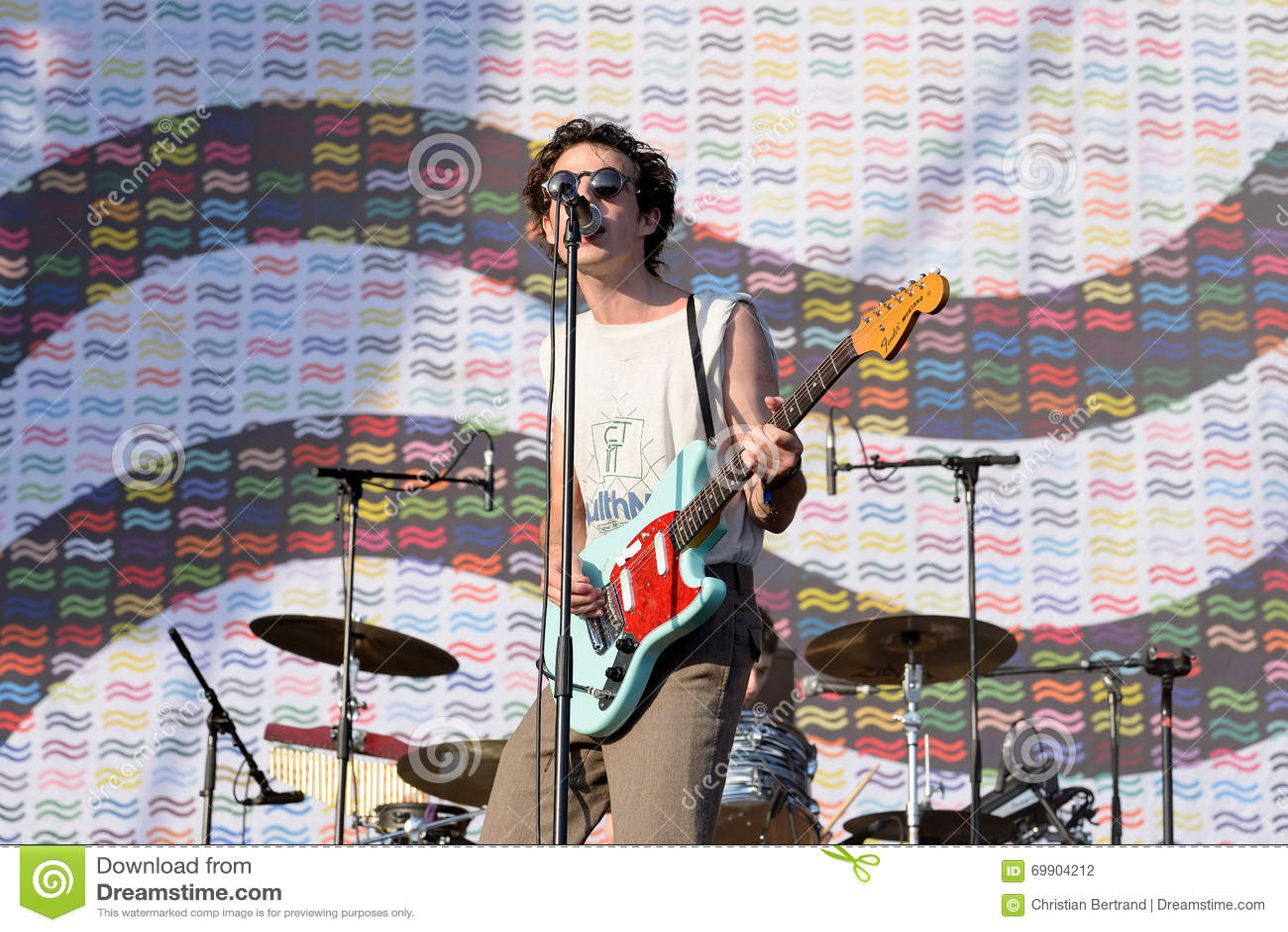 Zwem diep (indie pop band) in overleg bij FIB Festival