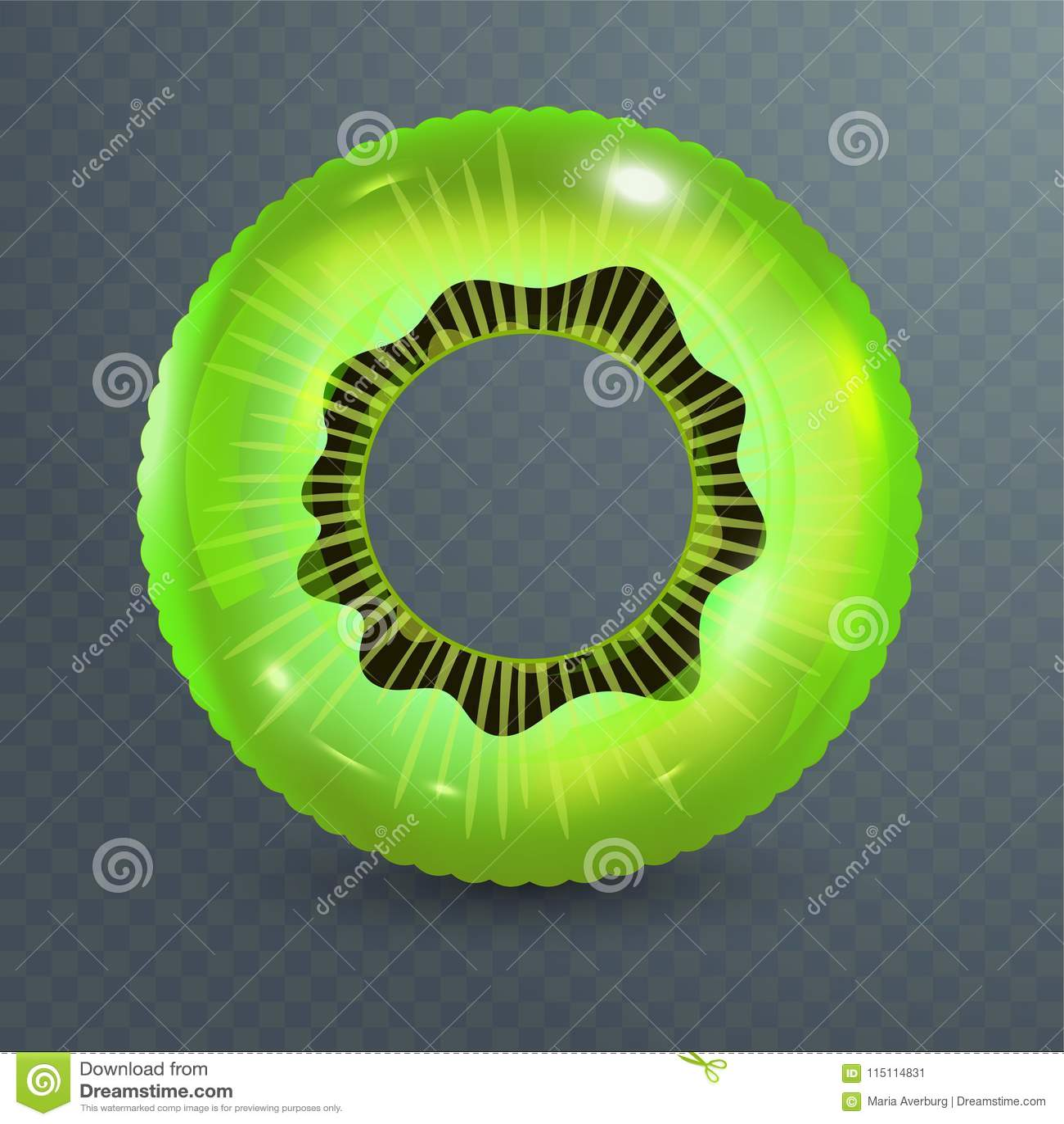 Zwem ring Opblaasbaar rubberstuk speelgoed Realistische zomerillustratie Kiwiontwerp Hoogste menings zwemmende cirkel voor oceaan