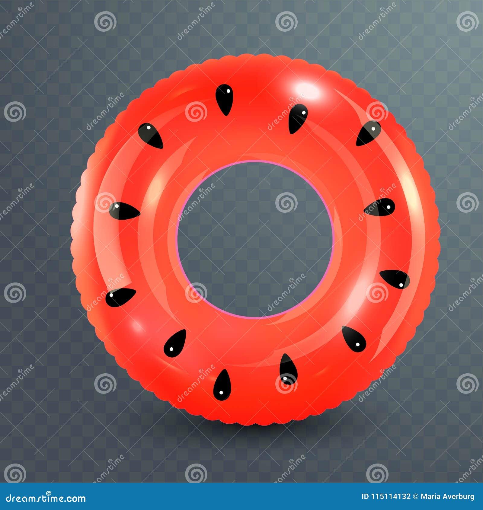 Zwem ring Opblaasbaar rubberstuk speelgoed Realistische zomerillustratie Watermeloenontwerp Hoogste menings zwemmende cirkel voor