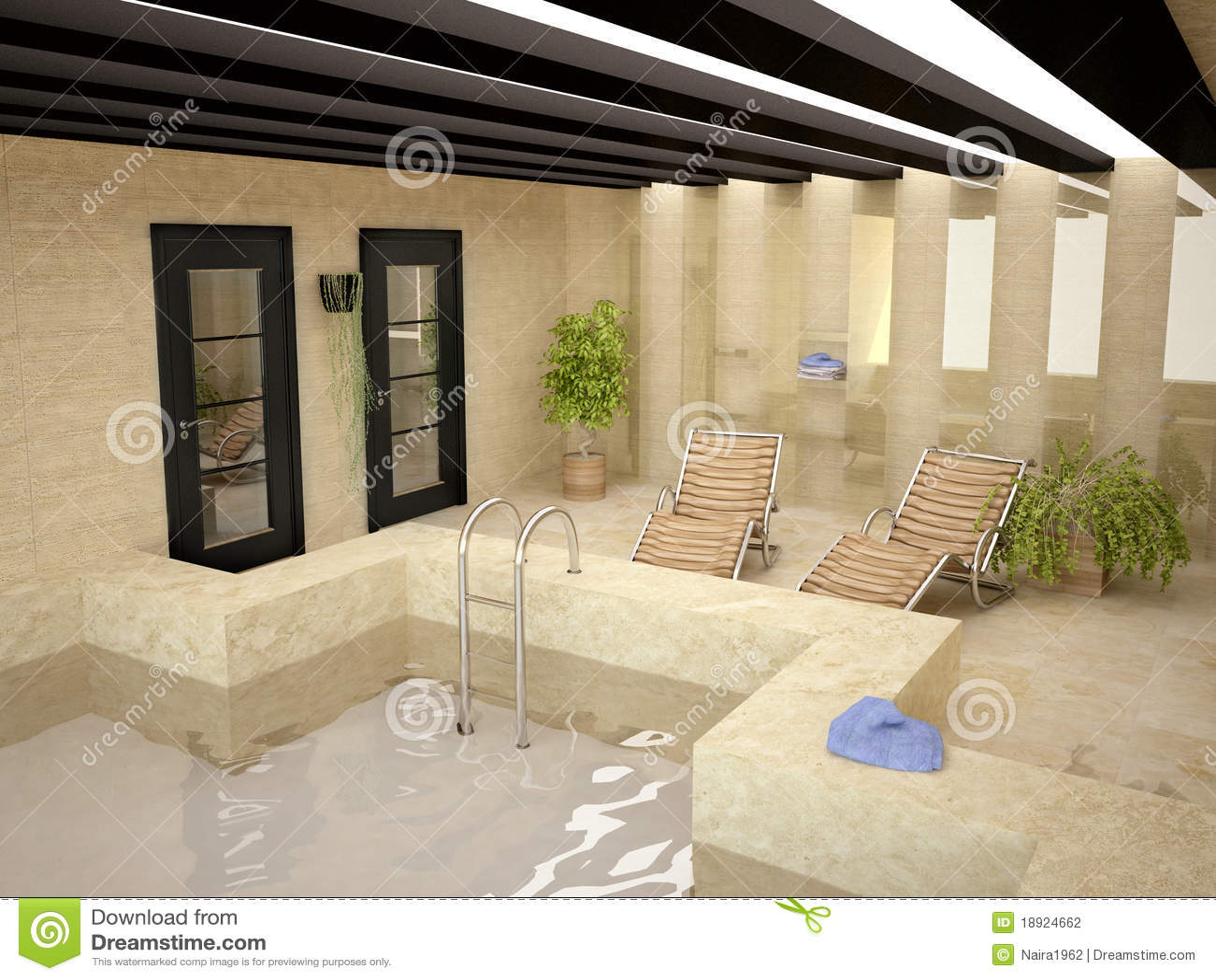 Zwembad In Huis : Zwembad binnen huis stock illustratie illustratie bestaande uit