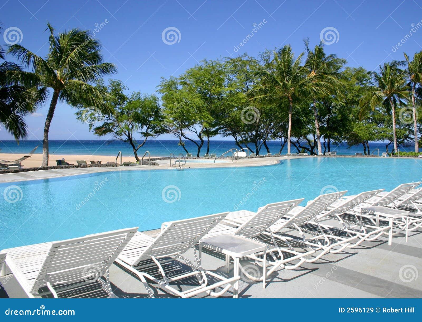Zwembad op het Strand