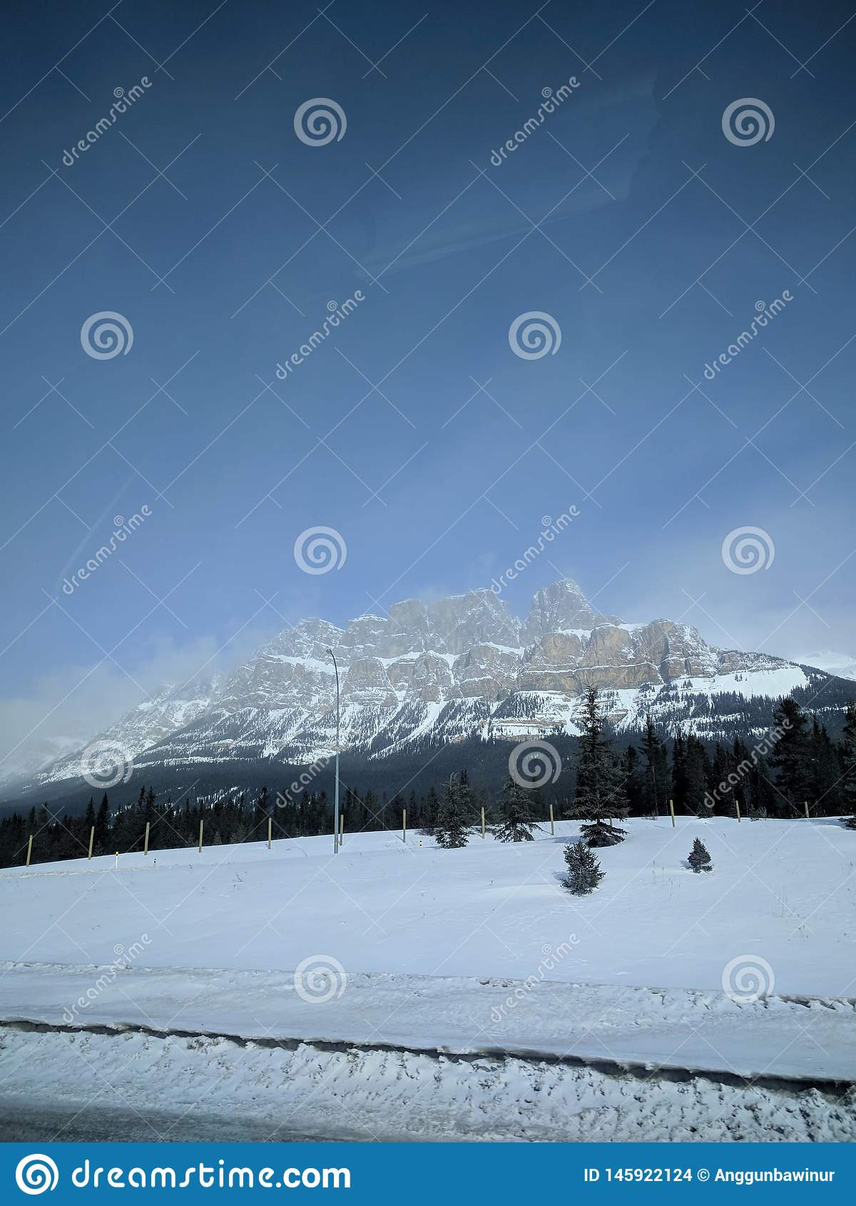 Zwervend rond Banff, Alberta, Calgary in de winter