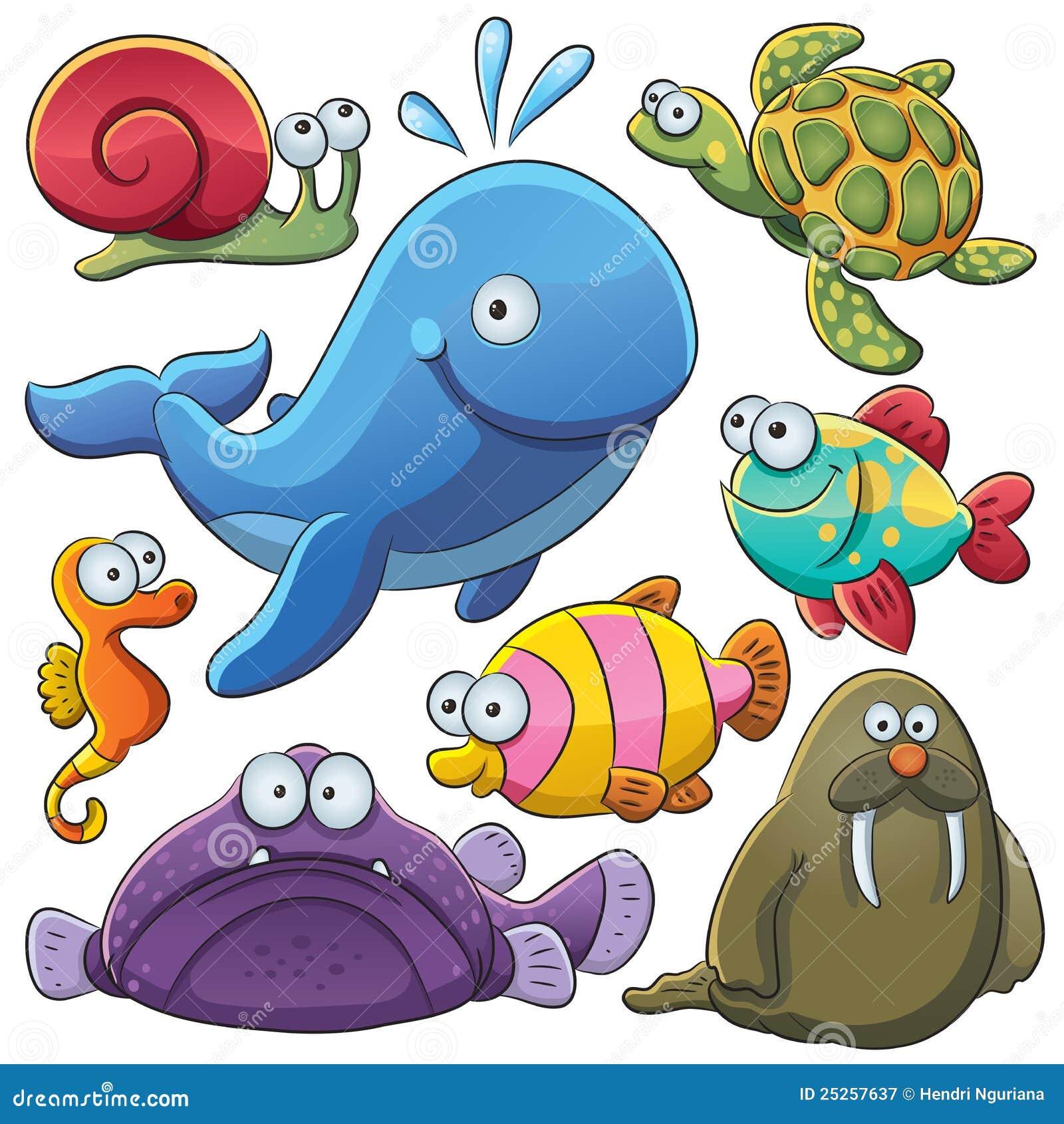 Zwierząt kolekci morze