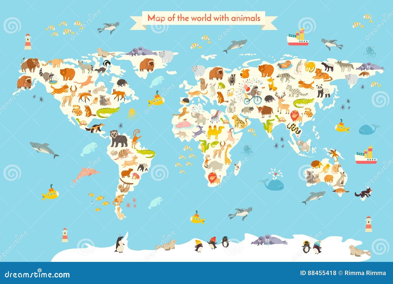 Zwierzę światowa mapa