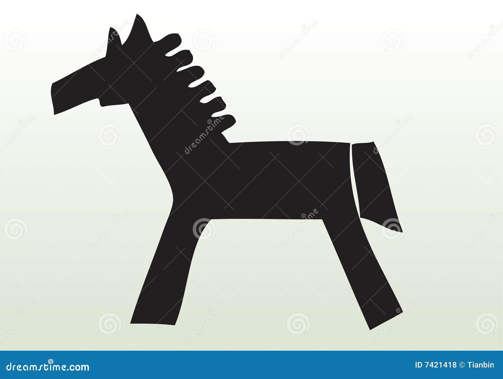 Zwierzę rysujący ręka koń