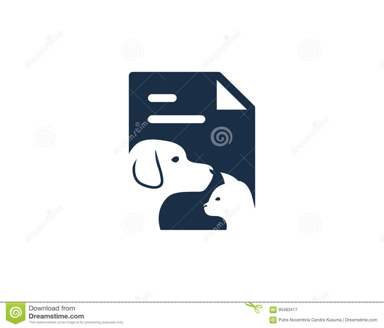 Zwierzęcy dokument ikony loga projekta element