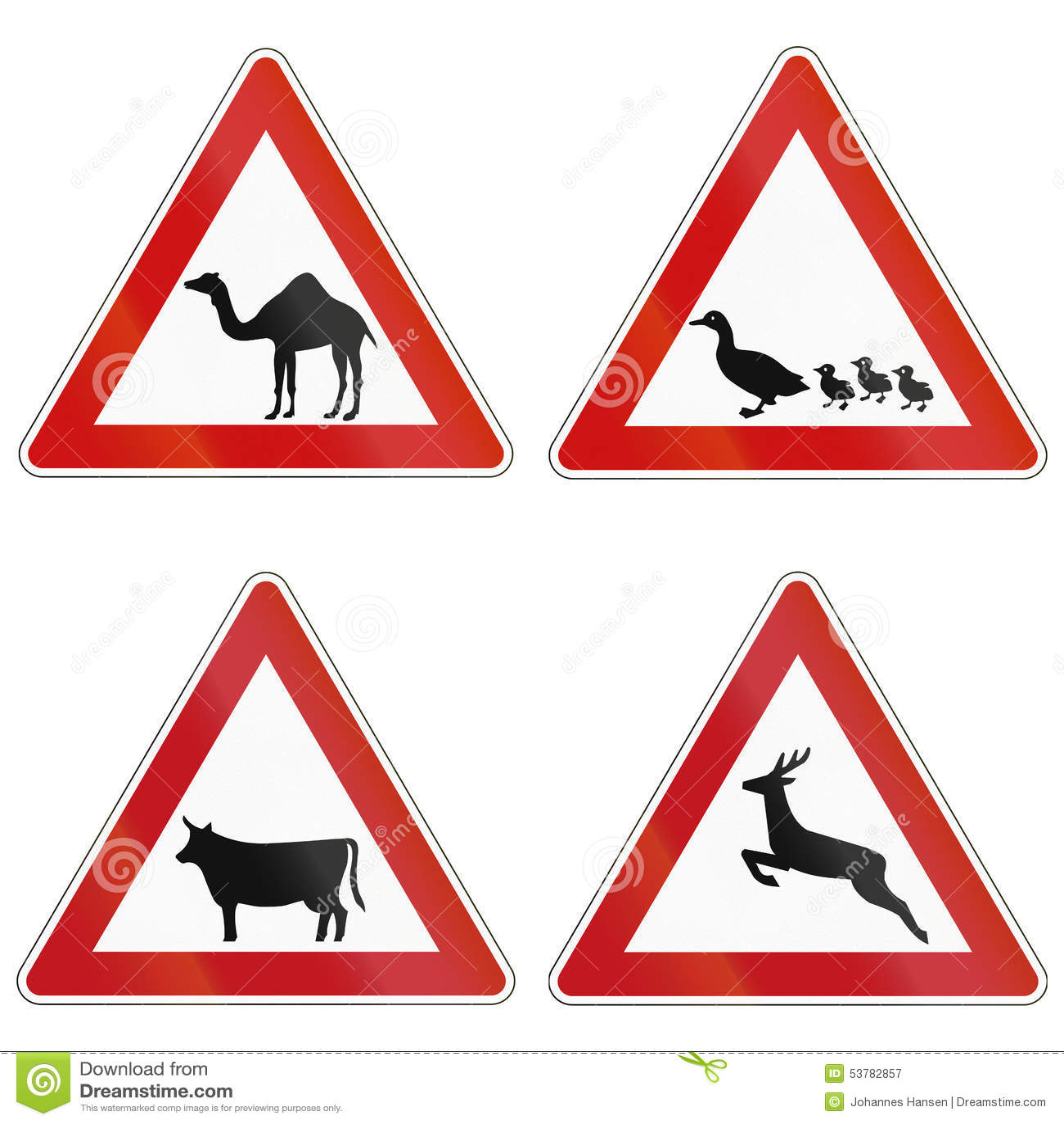 Zwierzęcy skrzyżowanie Podpisuje Wewnątrz Niemcy