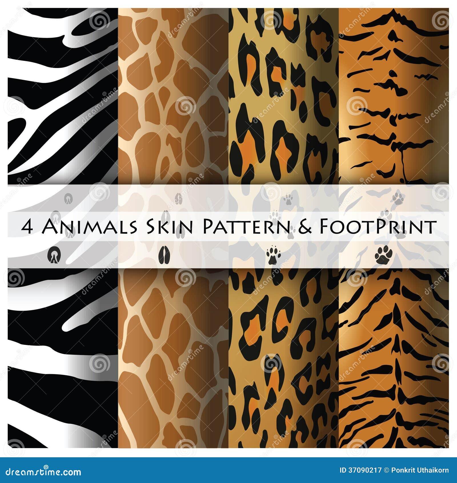 Download Zwierzę Skóry Odcisk Stopy I Wzór Ilustracja Wektor - Ilustracja złożonej z skóra, tygrys: 37090217