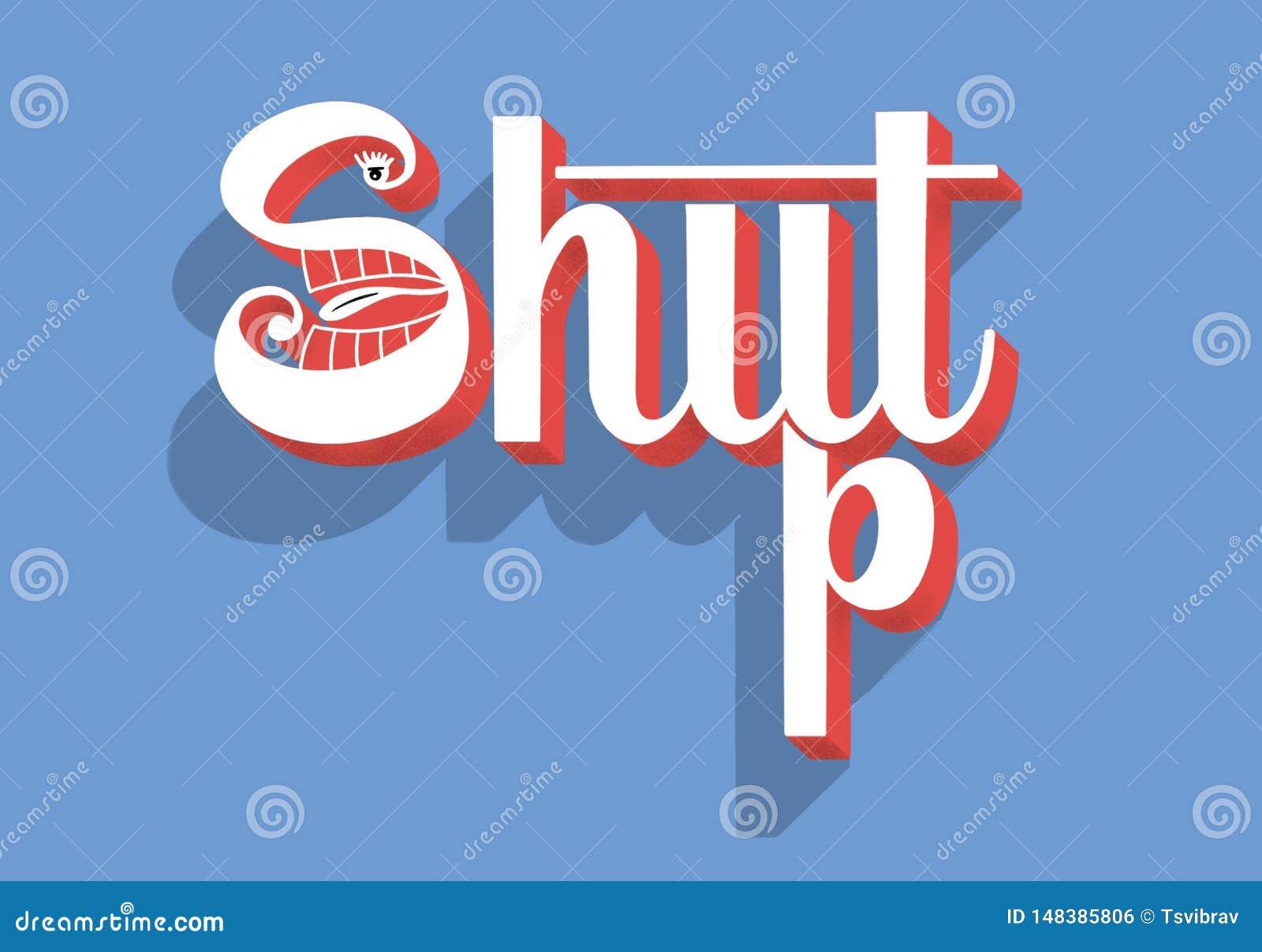 Zwijg - overhandig het van letters voorzien conceptuele samenstelling