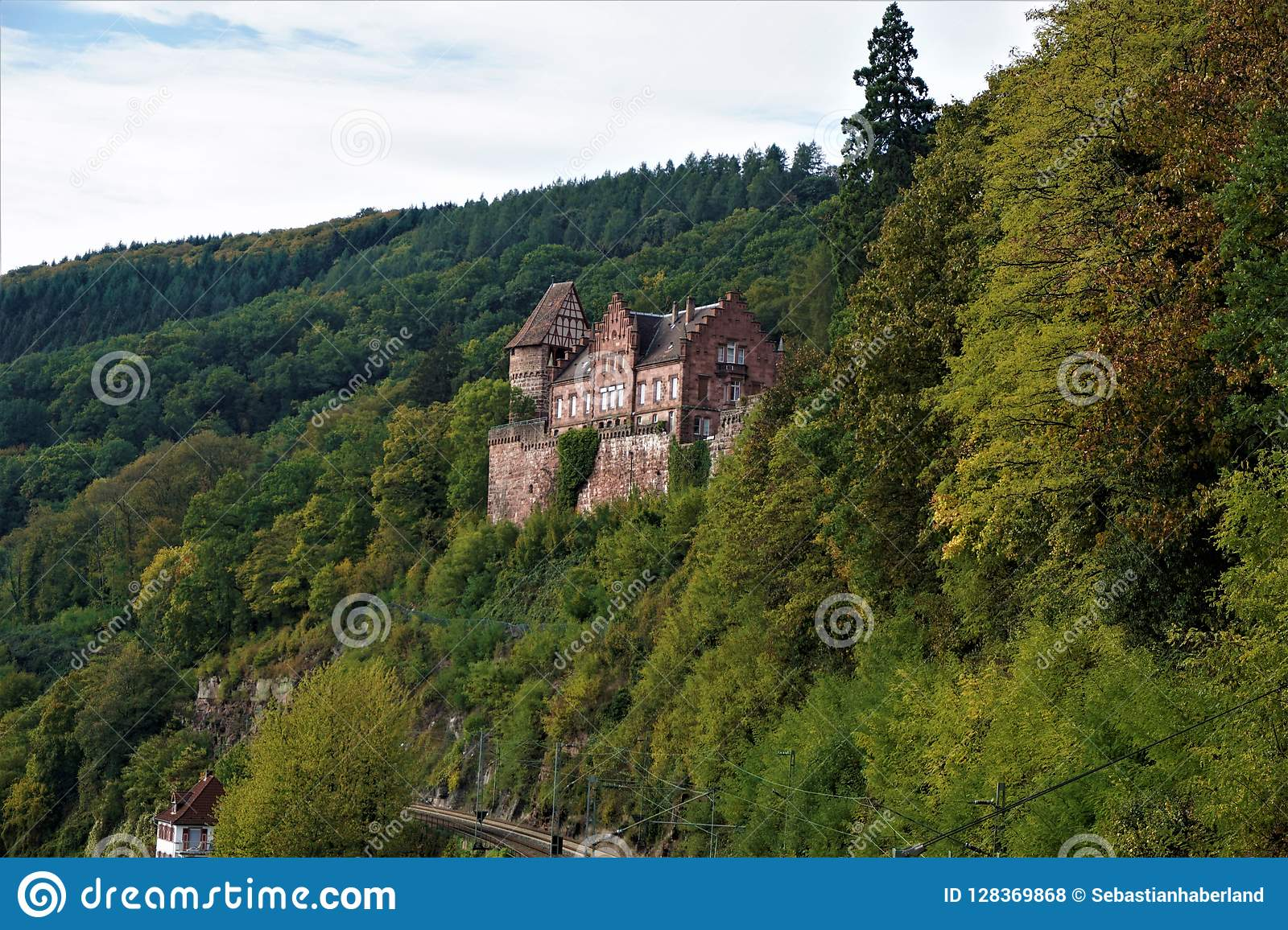 Map Zwingenberg Germany.Zwingenberg Castle Enthroned Over Railway Track In The Odenwald