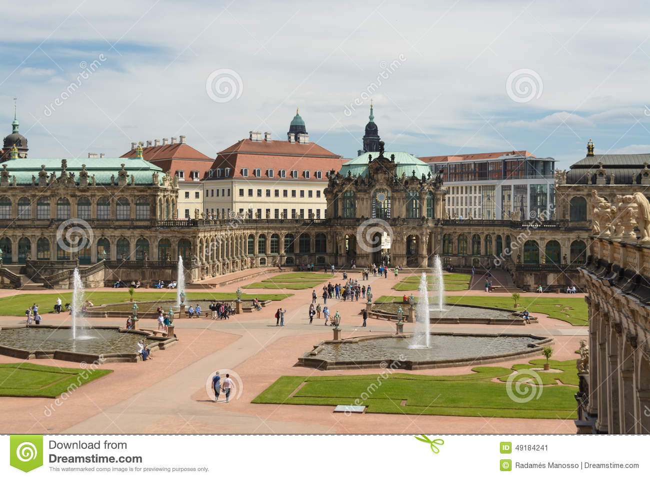 The Zwinger palace and the Dresden castle