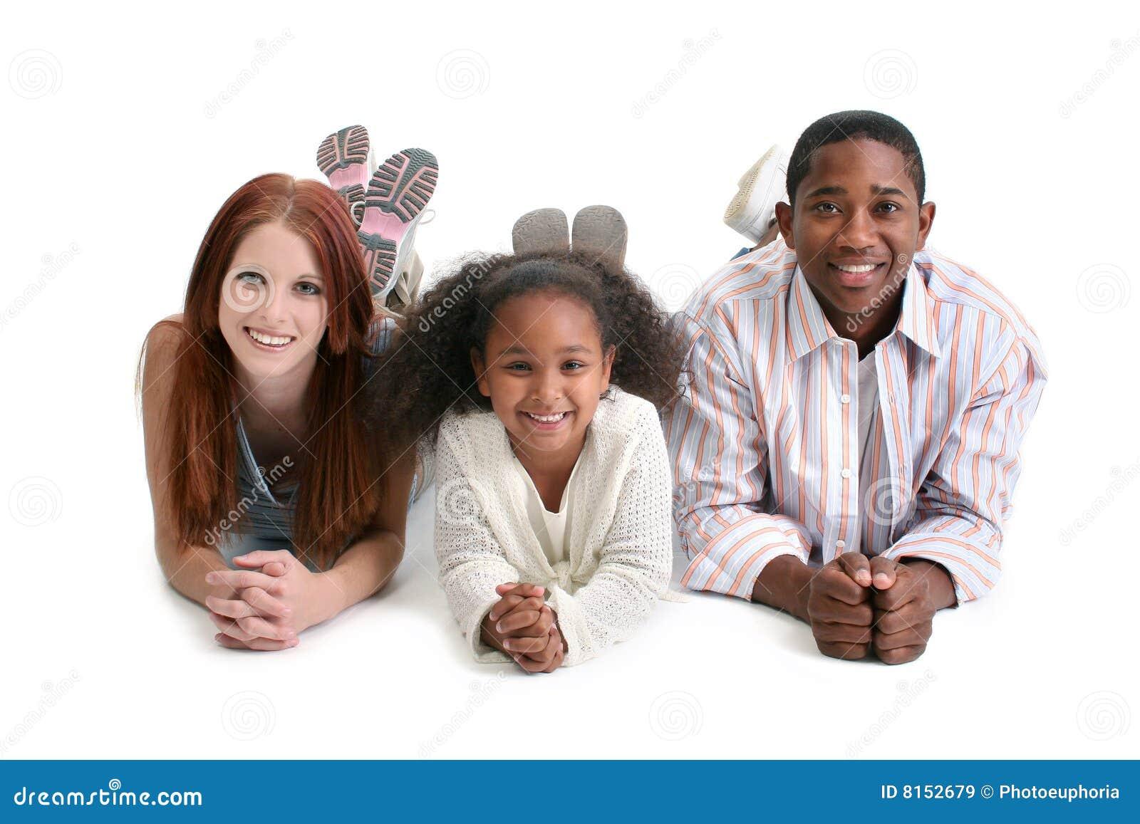 Zwischen verschiedenen Rassen Familie