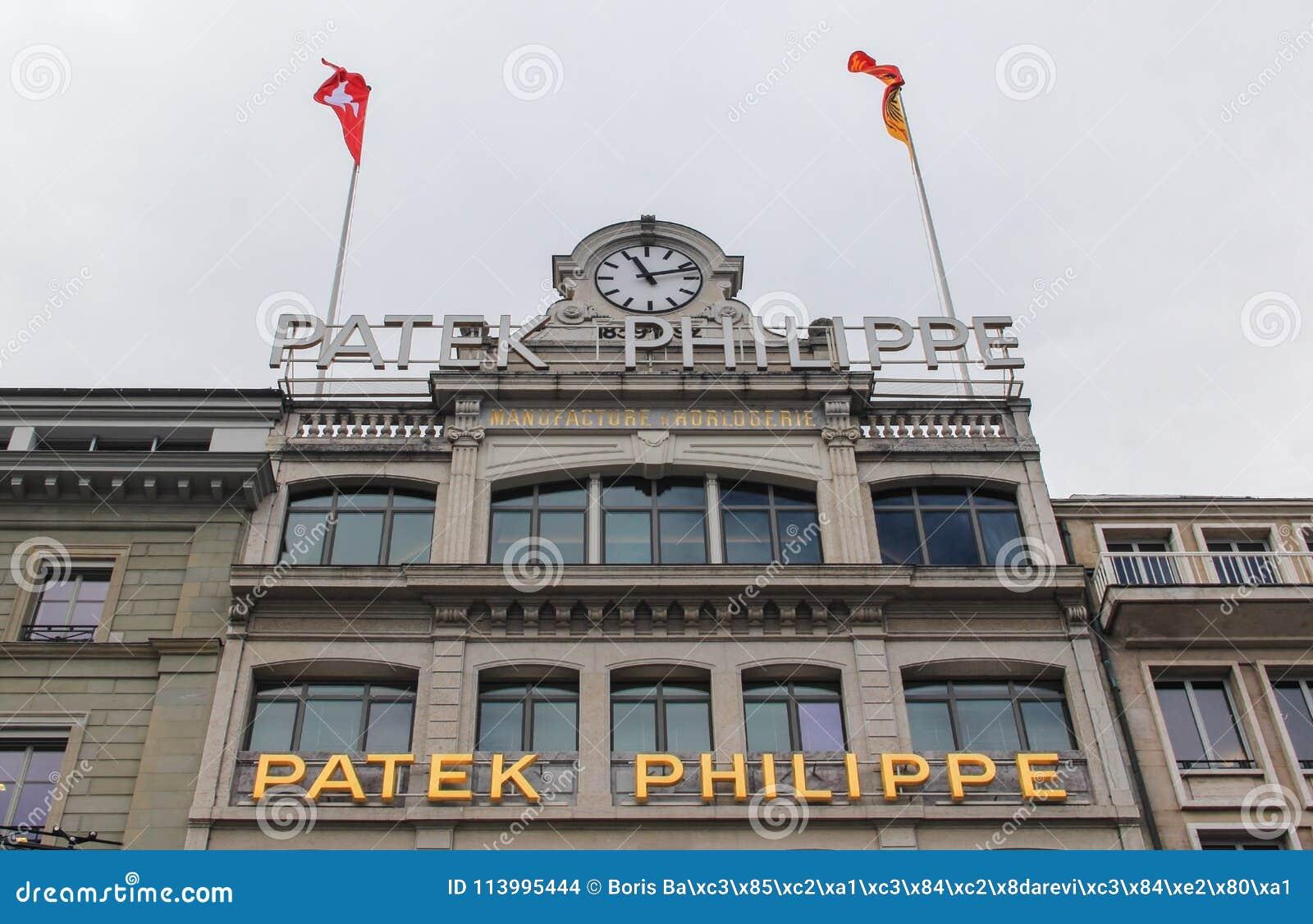 Zwitserland; Genève; 9 maart, 2018; De het museumbouw van Patekphilipp in Genève; Patek Philipp SA is Zwitserse luxe horlogemaker