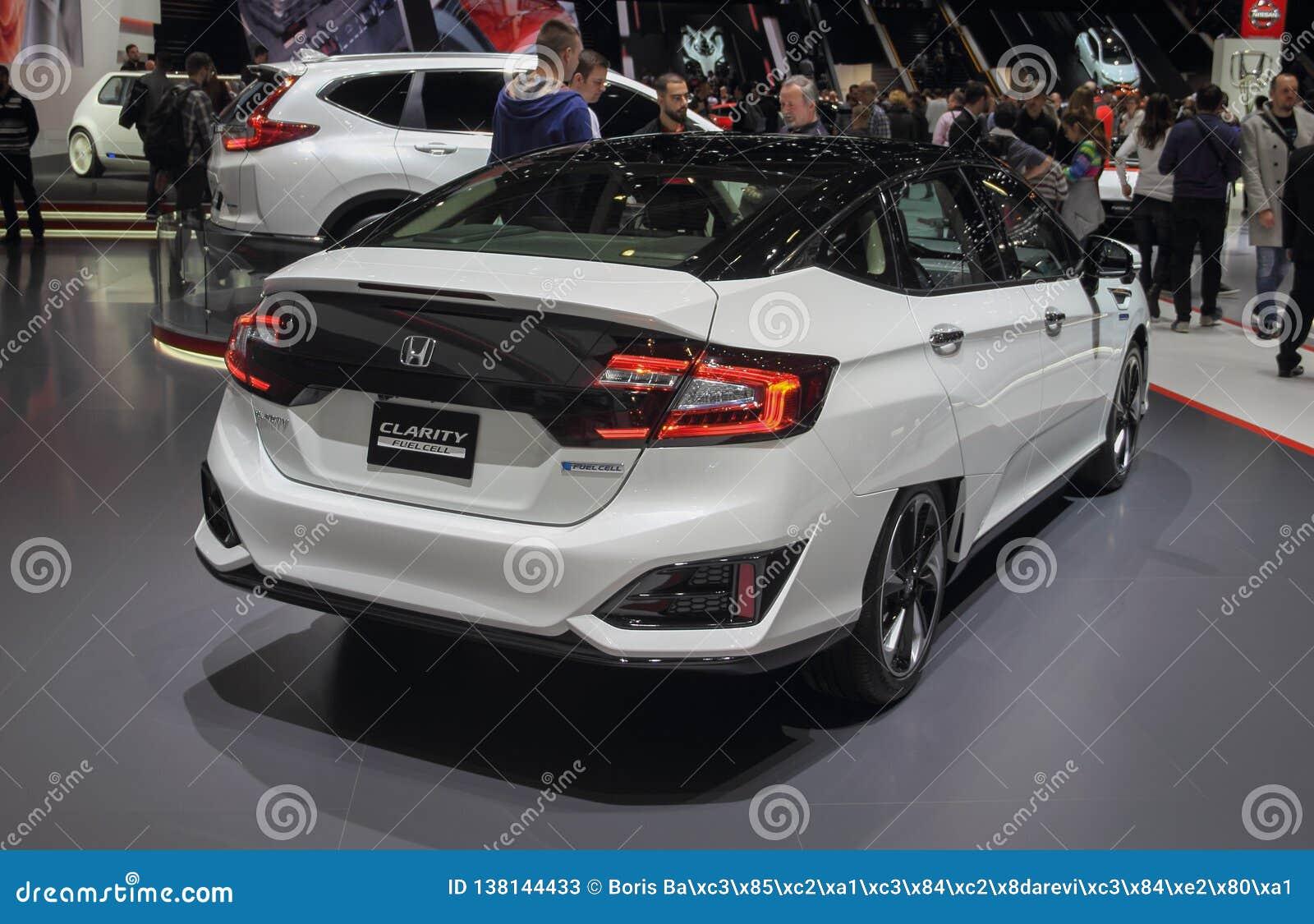 Zwitserland; Genève; 10 maart, 2018; Honda-Duidelijkheid; De 88ste Internationale Motorshow in Genève van achtste tot 18 van Maar