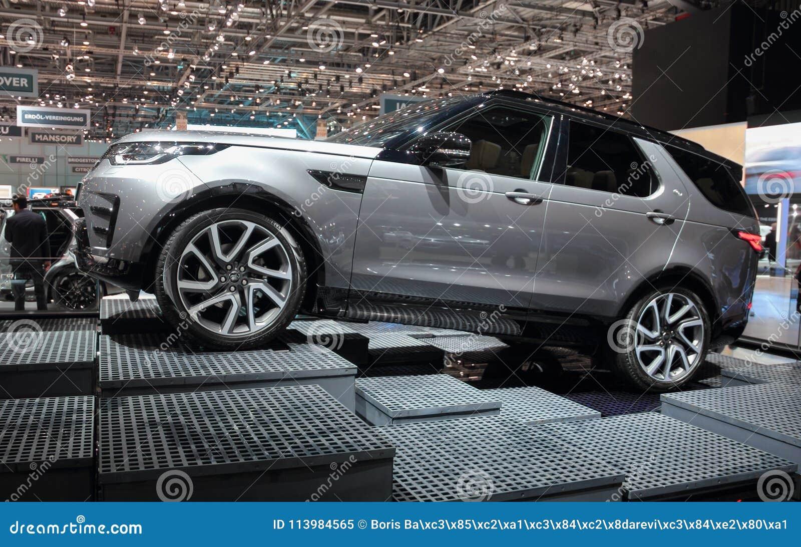 Zwitserland; Genève; 8 maart, 2018; Land Rover Discovery van Th