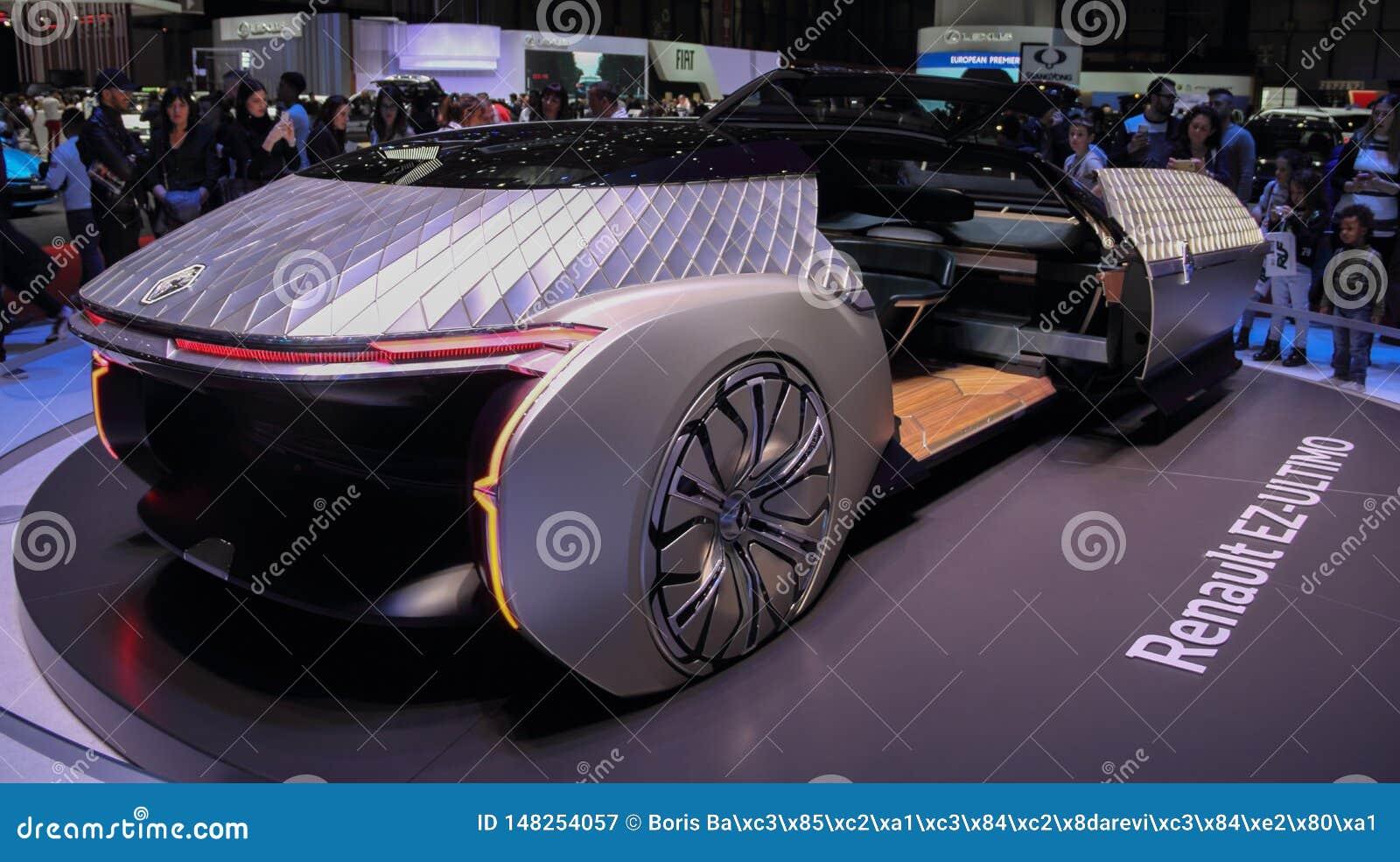 Zwitserland; Gen?ve; 9 maart, 2019; Ez-ULTIMO Renault; De 89ste Internationale Motorshow in Gen?ve van zevende tot 17 van Maart,