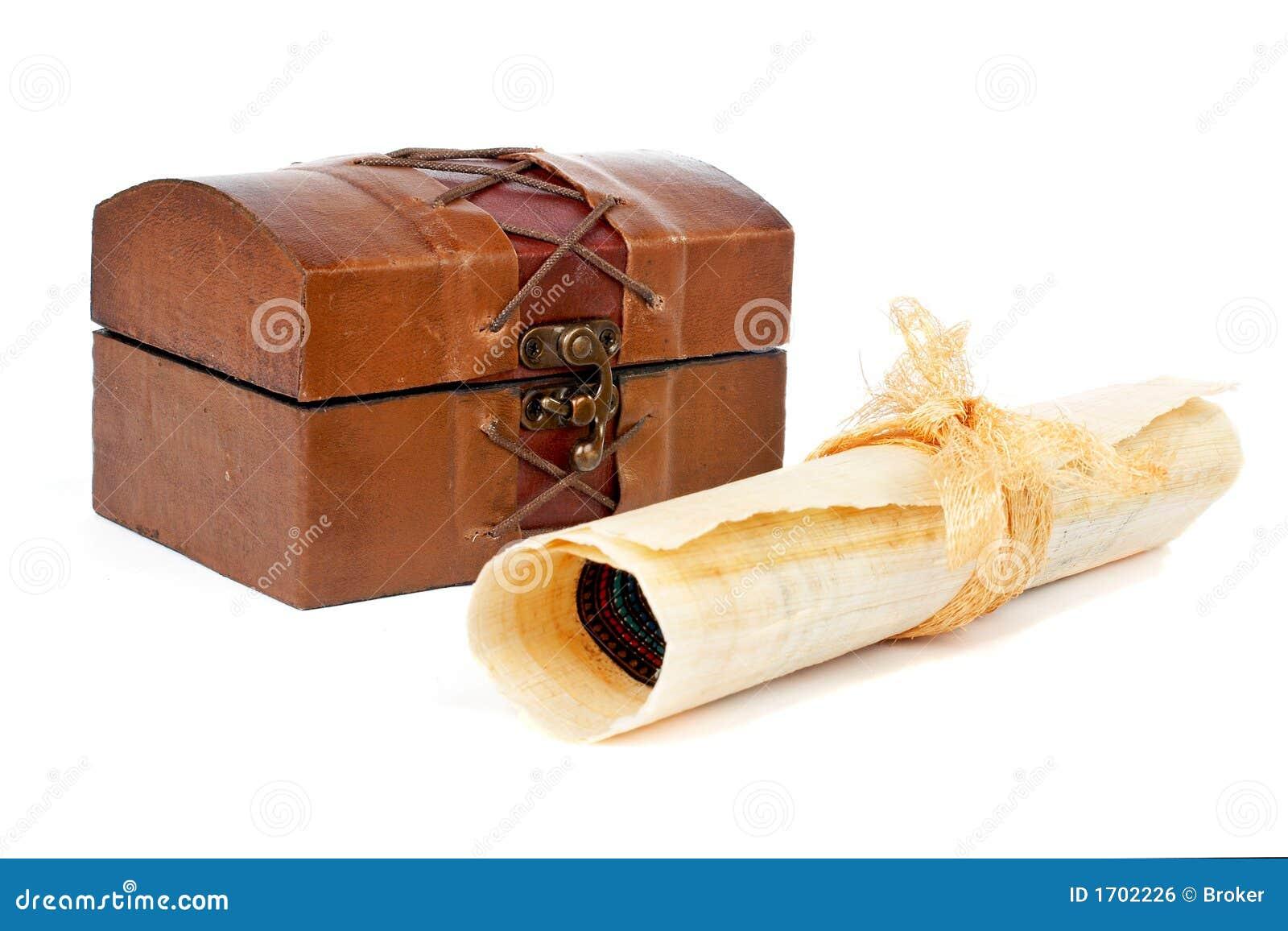 Zwoje klatki piersiowej papirusowy skarb