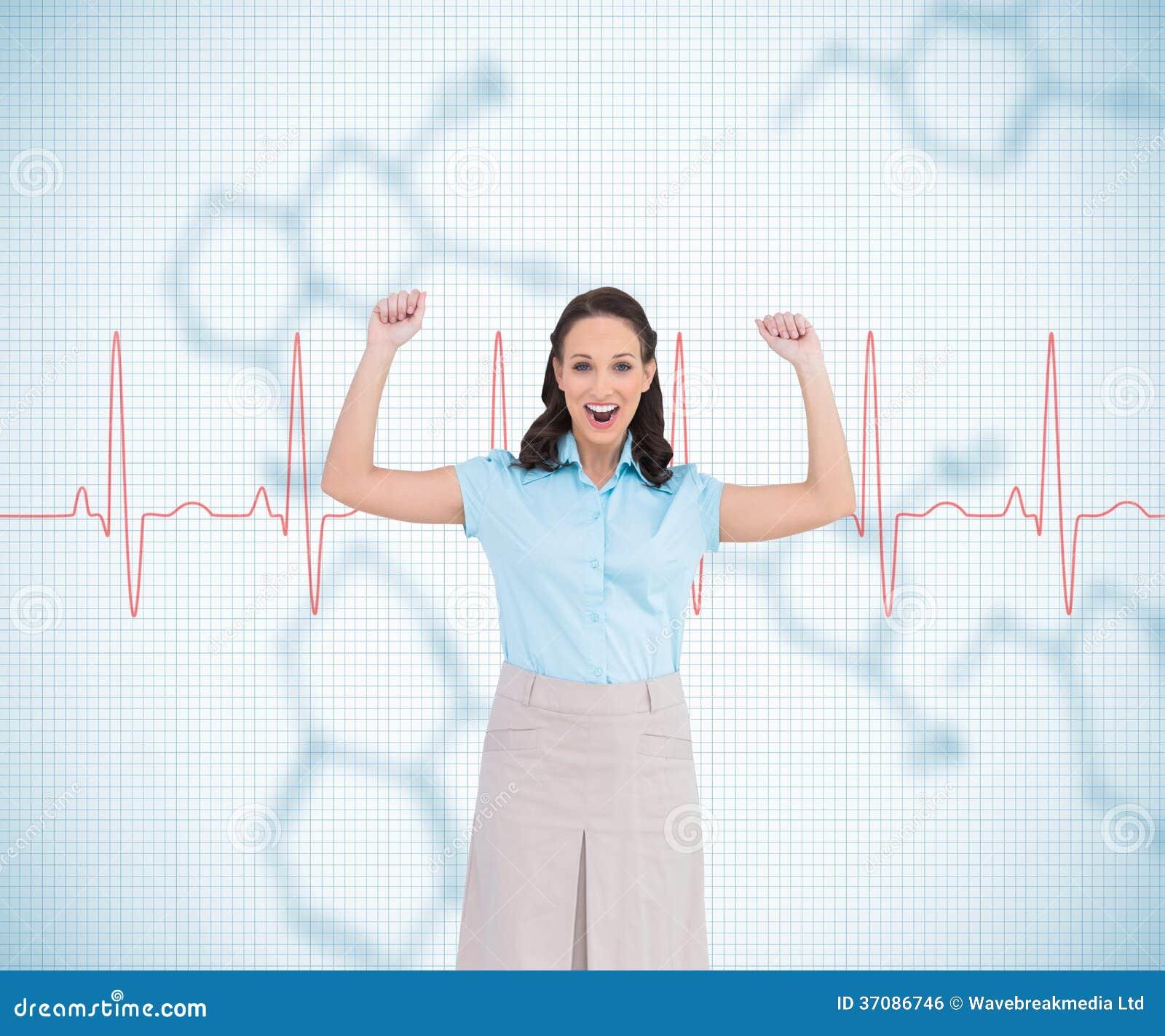 Download Zwycięski Elegancki Bizneswomanu Pozować Zdjęcie Stock - Obraz złożonej z monitor, chemia: 37086746